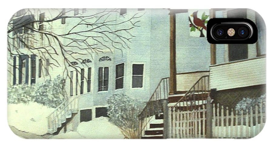 Medford IPhone X Case featuring the painting Our House In Medford by June Holwell