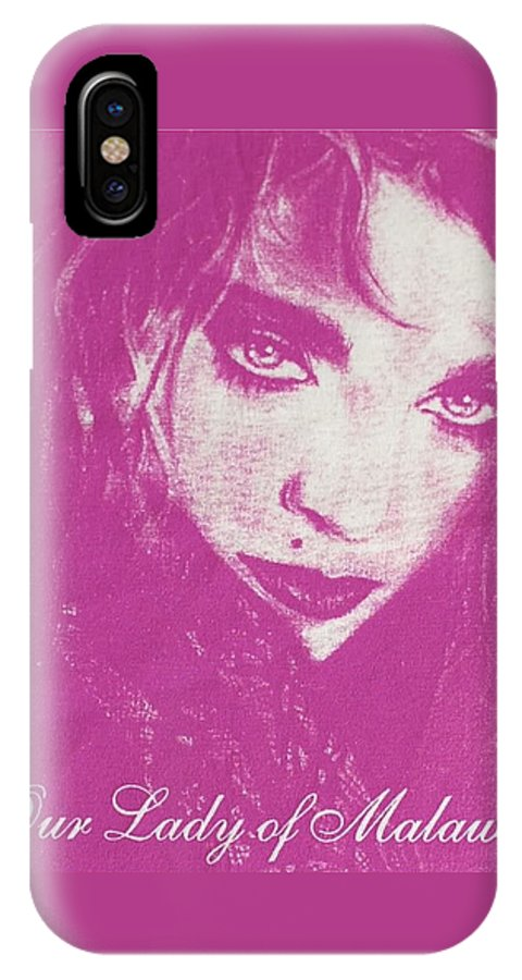 Madonna IPhone Case featuring the drawing Our Lady Of Malawi Madonna by Ayka Yasis