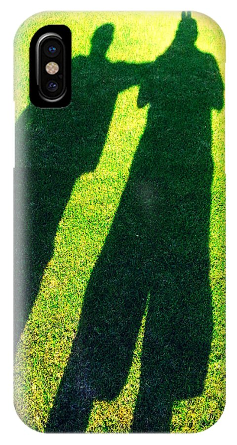 Shadow IPhone X Case featuring the photograph Our Shadow by Justin Lehman