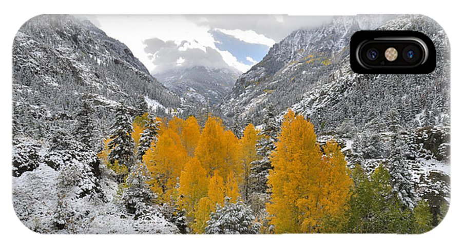 Colorado IPhone X Case featuring the photograph Ouray Fall Colors by Ray Mathis
