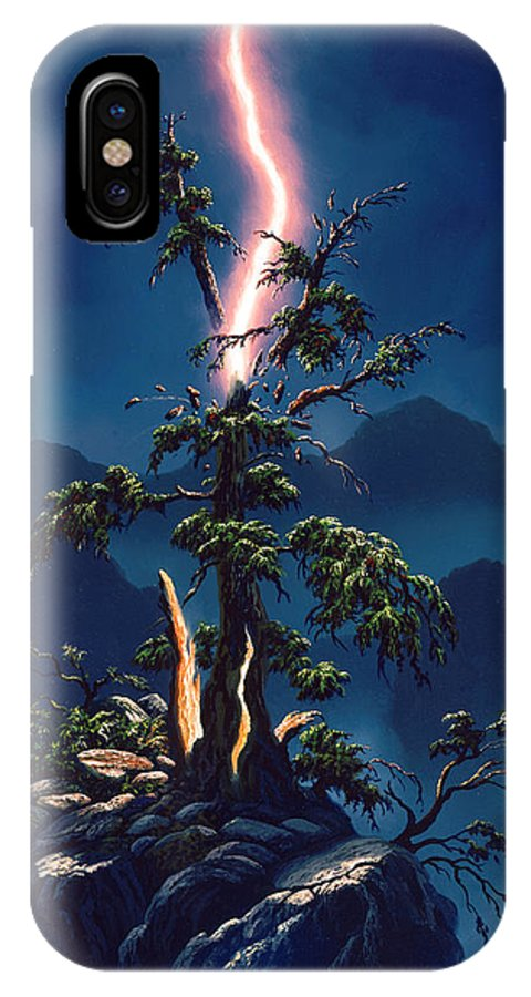 Painting IPhone X Case featuring the painting Out In A Blaze Of Glory by Frank Kecskes