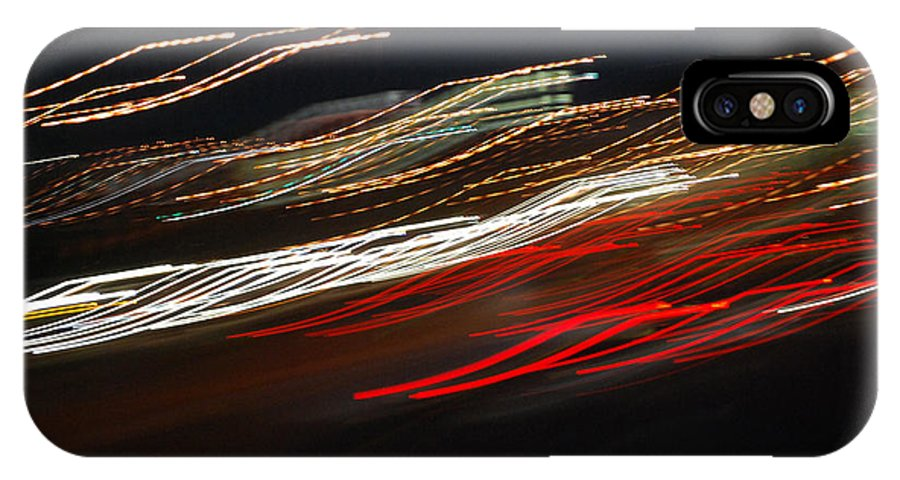 Abstract IPhone X Case featuring the photograph Out Of Control by Maggy Marsh