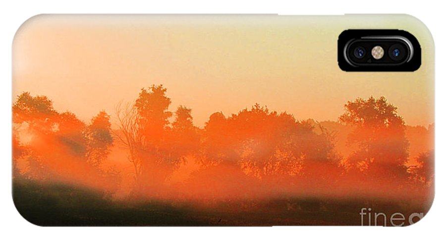Ron Tackett IPhone X Case featuring the photograph Out Of The Mist by Ron Tackett