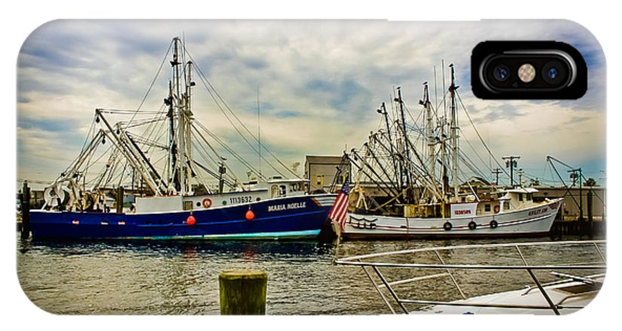 Boats IPhone X Case featuring the photograph Out To Sea by Colleen Kammerer