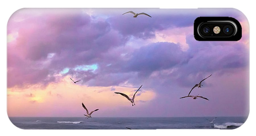 Outer Banks IPhone X Case featuring the photograph Outer Banks Sunrise by Mary Almond