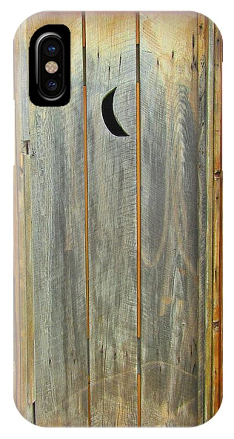 Outhouse Art IPhone X Case featuring the photograph Outhouse Door by John Malone