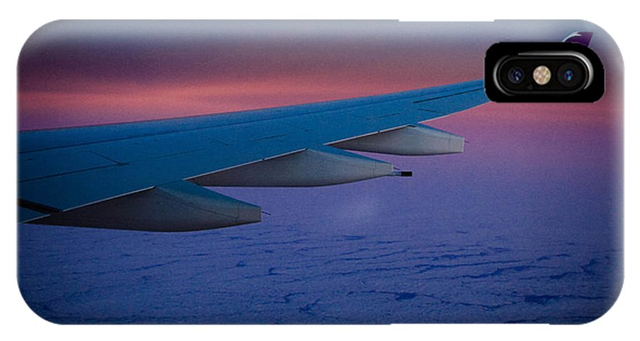 Airplane IPhone X Case featuring the photograph Over The Ocean by Chelsea Moudry