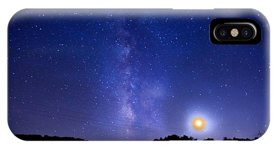 Over The Power Lines IPhone X Case featuring the digital art Over The Power Lines by William Fields