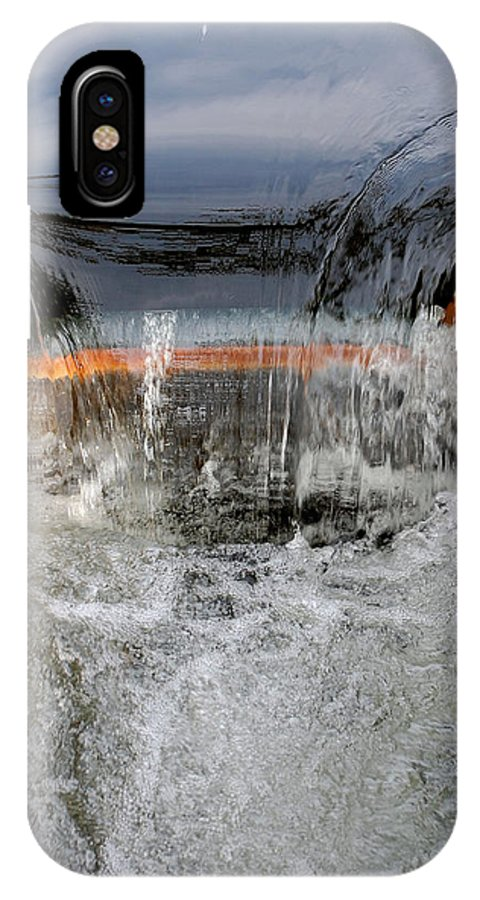 Water One Mile Damn Park Spill Over Chico Ca Small Waterfall IPhone X Case featuring the photograph Overflow At The One Mile by Holly Blunkall