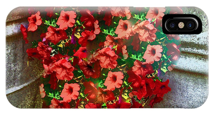 Flowers In Vase IPhone X Case featuring the photograph Overflowing by Annette Allman