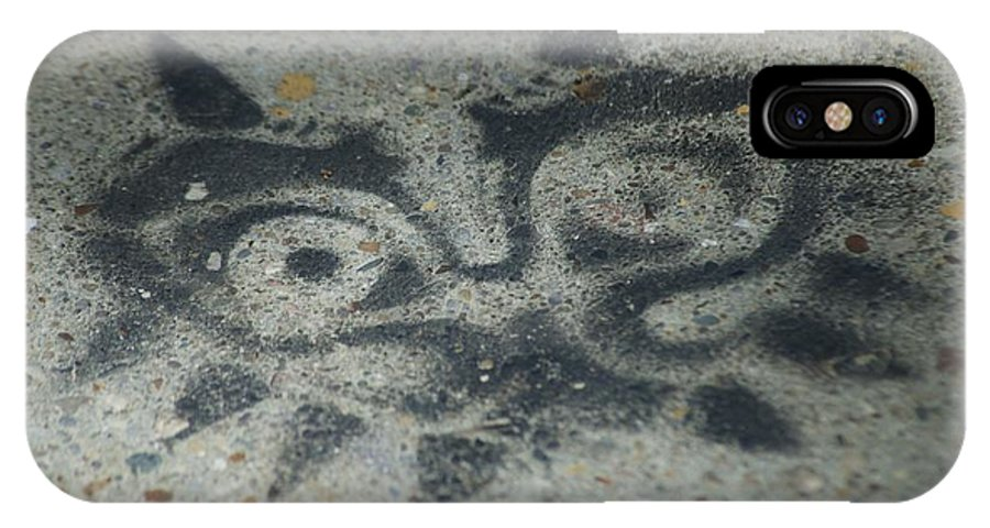 Graffiti IPhone X Case featuring the photograph Owl by Joseph Yarbrough