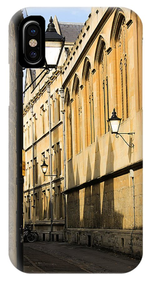 IPhone X Case featuring the photograph Oxford Alleys by Marie Cardona