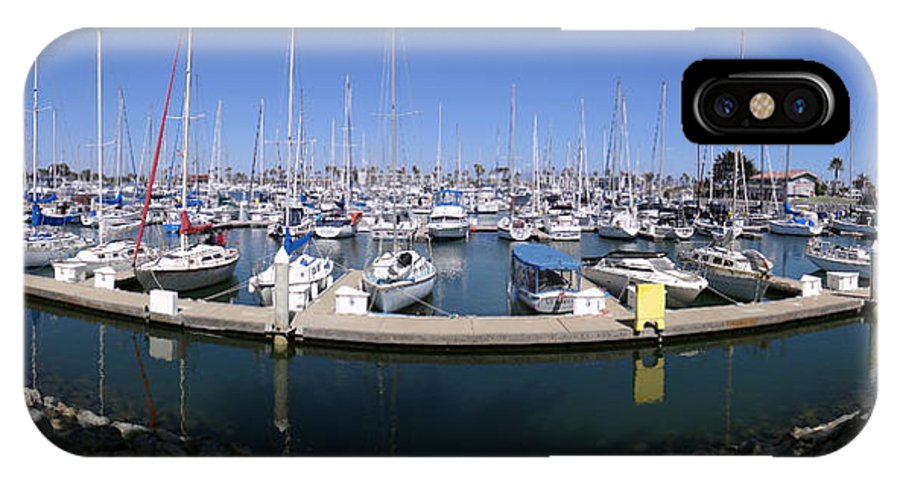 Boats IPhone X Case featuring the photograph Oxnard 7 by Richard J Cassato