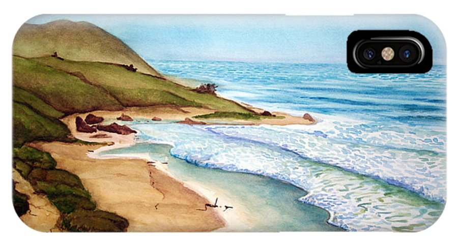 Rick Huotari IPhone X Case featuring the painting Pacific by Rick Huotari