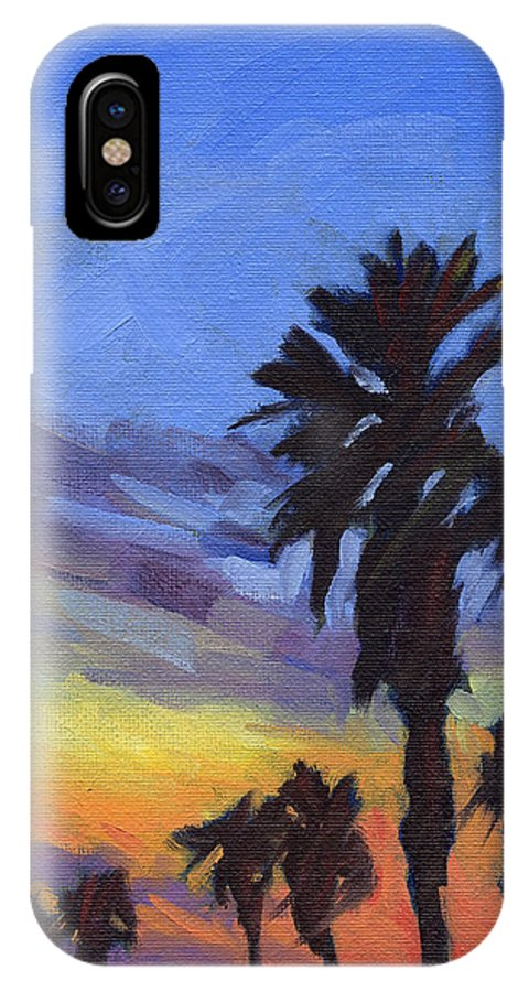 Sunset IPhone X Case featuring the painting Pacific Sunset 2 by Konnie Kim
