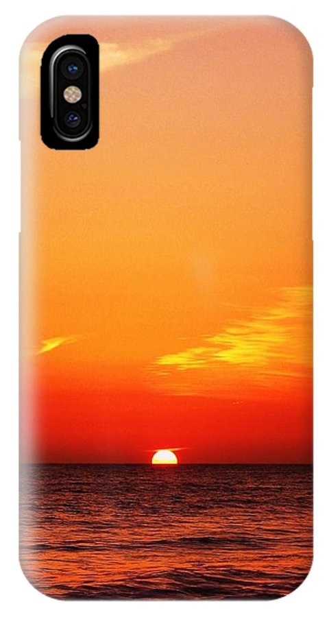 California IPhone X Case featuring the photograph Pacific Sunset by David Broome