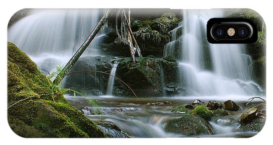 Packer Falls IPhone X Case featuring the photograph Packer Falls by Paul DeRocker