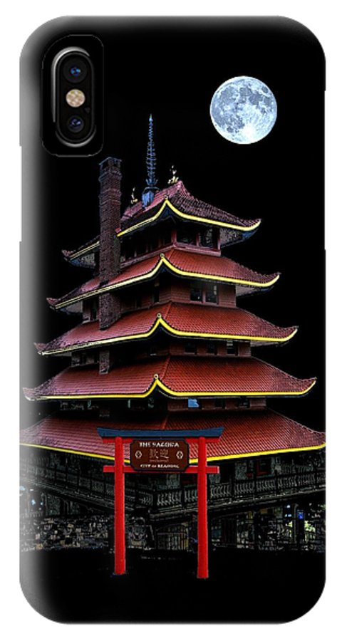 Pagoda IPhone X Case featuring the photograph Pagoda by DJ Florek