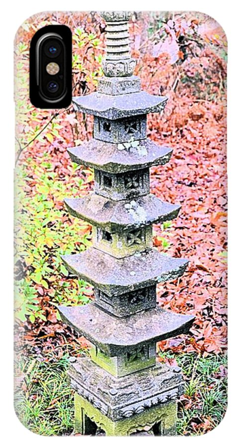Pagoda IPhone X Case featuring the photograph Pagoda In Autumn by James Potts