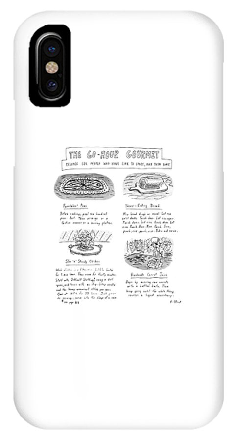 Dining IPhone X Case featuring the drawing Painstakin' Peas by Roz Chast