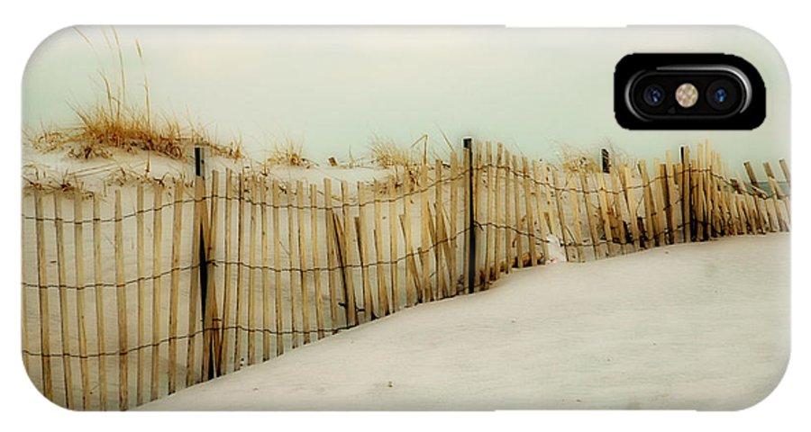 Beach IPhone X Case featuring the photograph Painted Beach by Cathy Kovarik