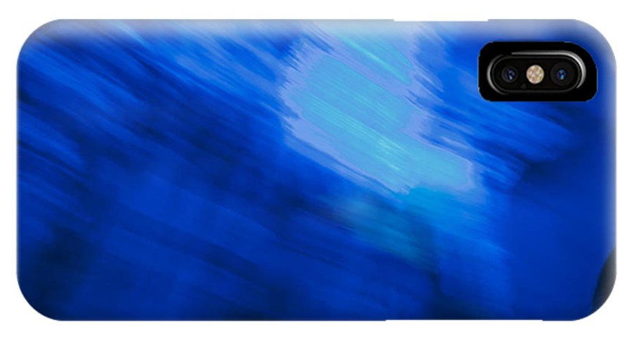 Light IPhone X Case featuring the photograph Painted Blue by Ryan Crane