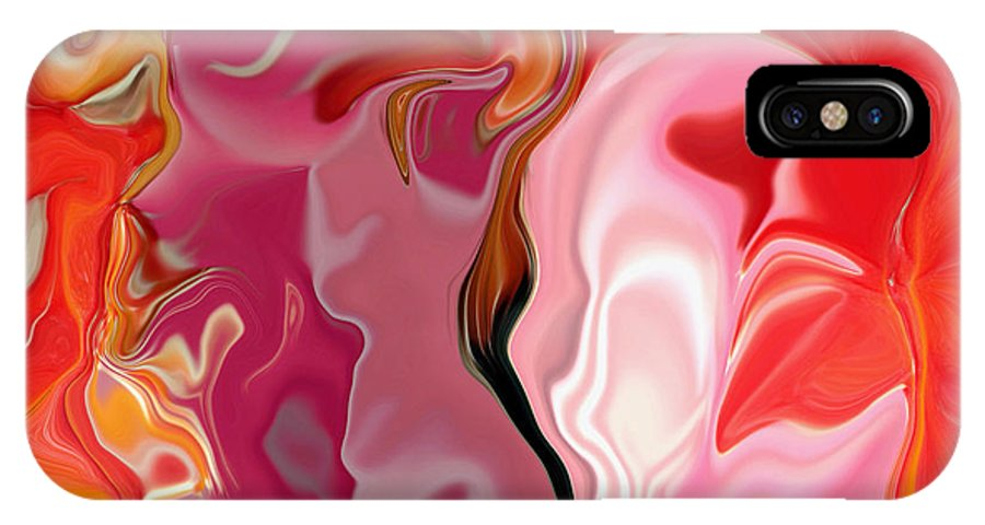 Face Art IPhone Case featuring the digital art Painted Face's by Linda Sannuti