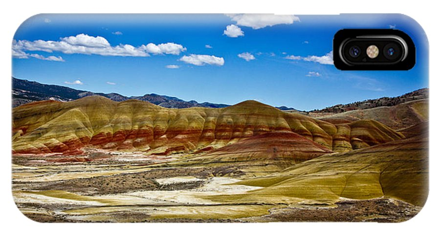Painted Hills Oregon IPhone X Case featuring the photograph Painted Hills by Lee Sage