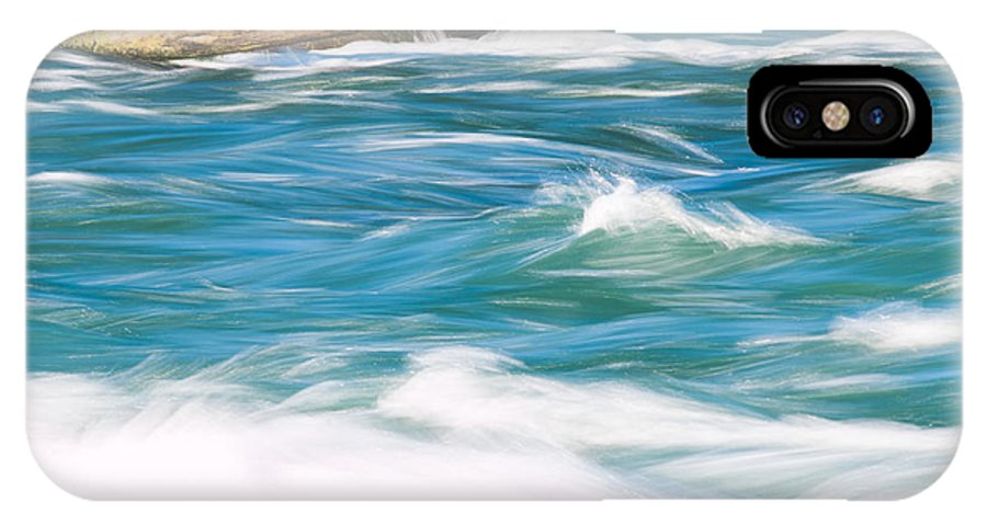 Water IPhone X Case featuring the photograph Painted Niagara by Gaurav Singh