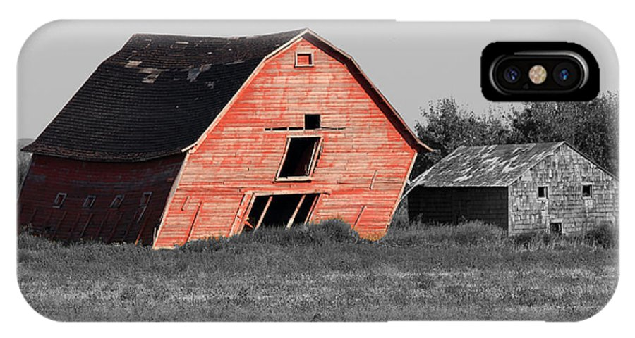 Old IPhone X Case featuring the photograph Painted Old Barn by Gerald Murray Photography