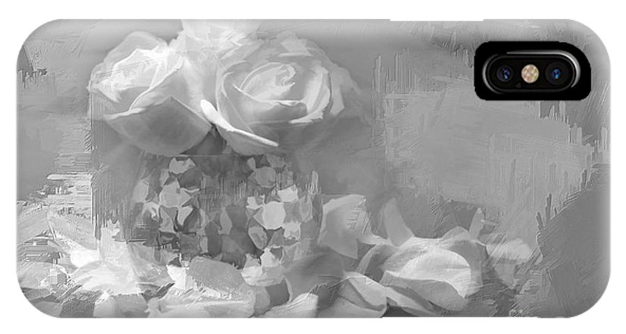 Roses IPhone X Case featuring the photograph Painted Roses by Jayne Carney
