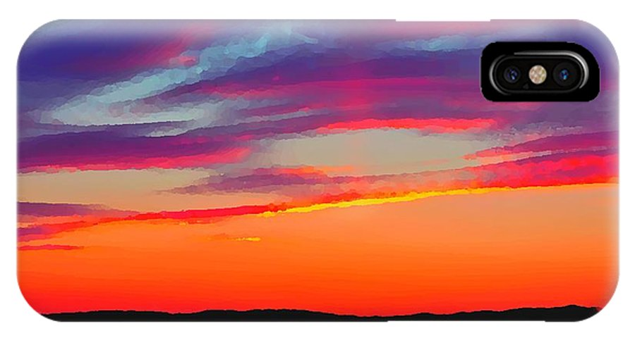 Landscape IPhone X Case featuring the photograph Painted Sunset by Debbie Cram