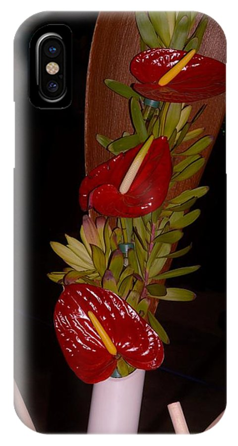 Anthurium IPhone X Case featuring the photograph Painter's Palette by Sonali Gangane