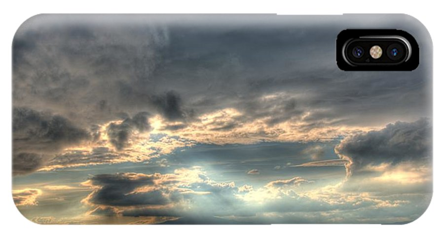 Sunset IPhone X Case featuring the photograph Painting With Light by Doug Farmer