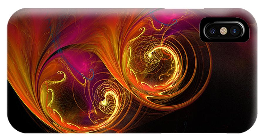 Fractal IPhone X Case featuring the digital art Painting With Light by Rich Stedman