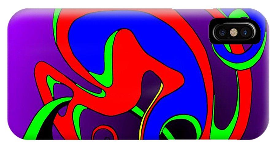 Paar IPhone X Case featuring the digital art Pair 2014 by Helmut Rottler