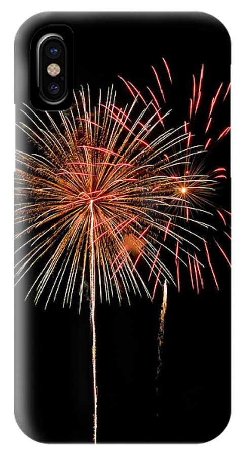 Fireworks IPhone X Case featuring the photograph Pair Of Flowers by Devinder Sangha