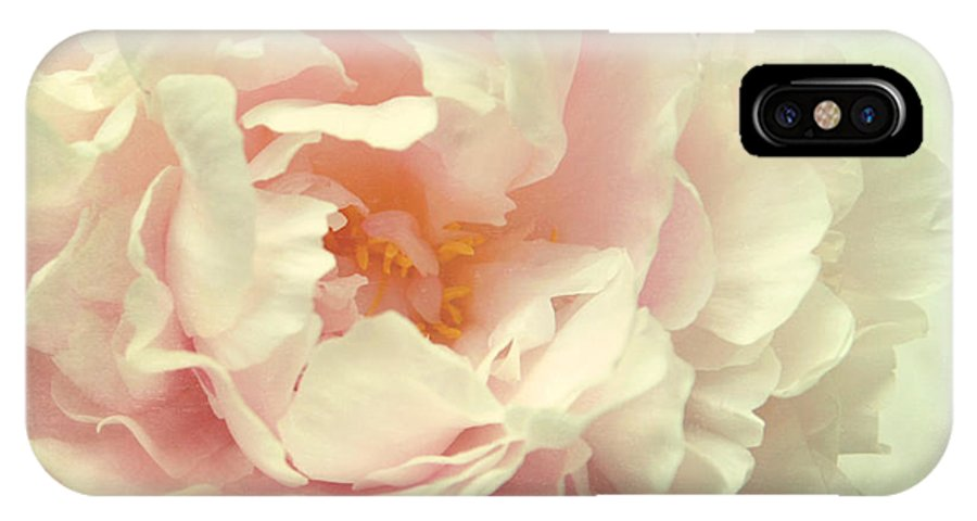 Peony IPhone X Case featuring the photograph Pale Beauty by Sylvia Cook