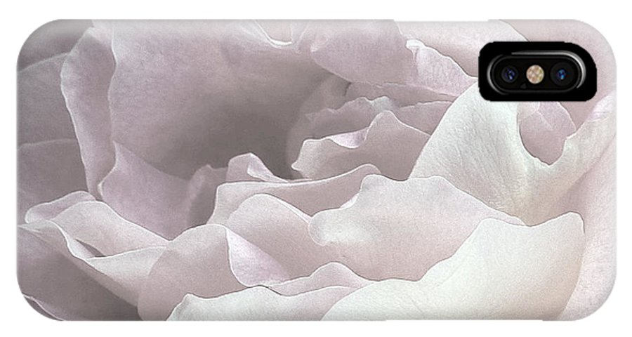 Pale IPhone X Case featuring the photograph Pale Pink Rose Petals by Alan and Marcia Socolik