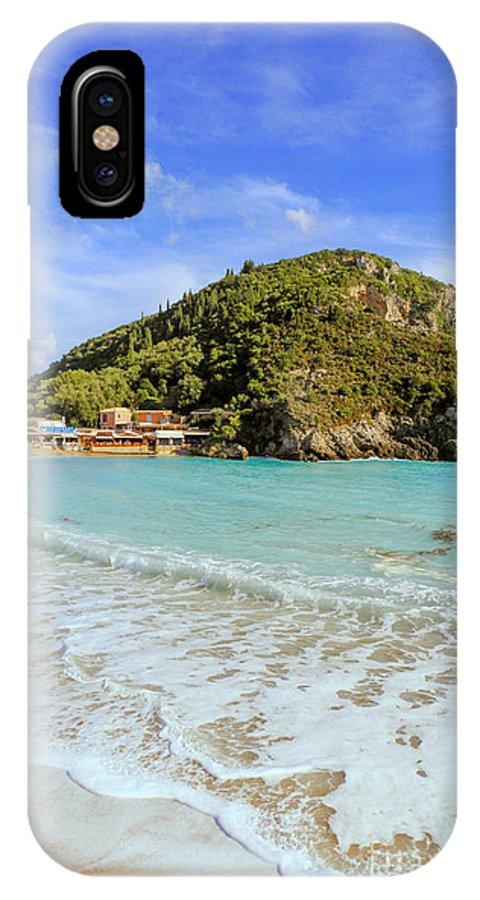 Plaeokastritsa IPhone X Case featuring the photograph Paleokastritsa Beach by Paul Cowan