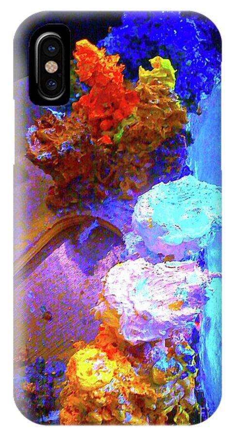 Digital Art IPhone X Case featuring the digital art Palette 0628 2 by Nina Kaye