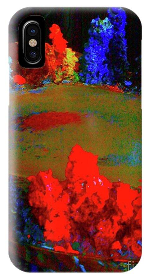 Digital Art IPhone X Case featuring the digital art Palette 0658 3a by Nina Kaye