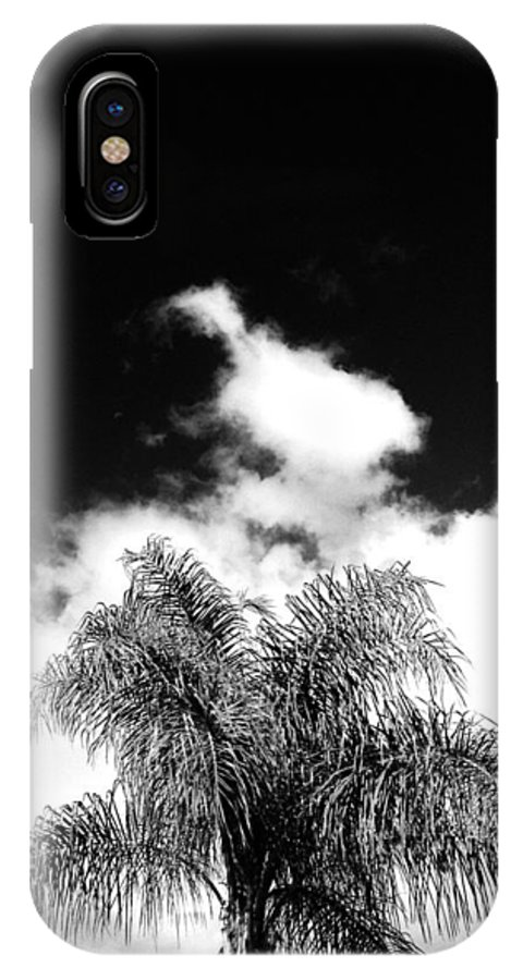 Palm Tree IPhone X Case featuring the photograph Palm Cloud by Natalya Karavay