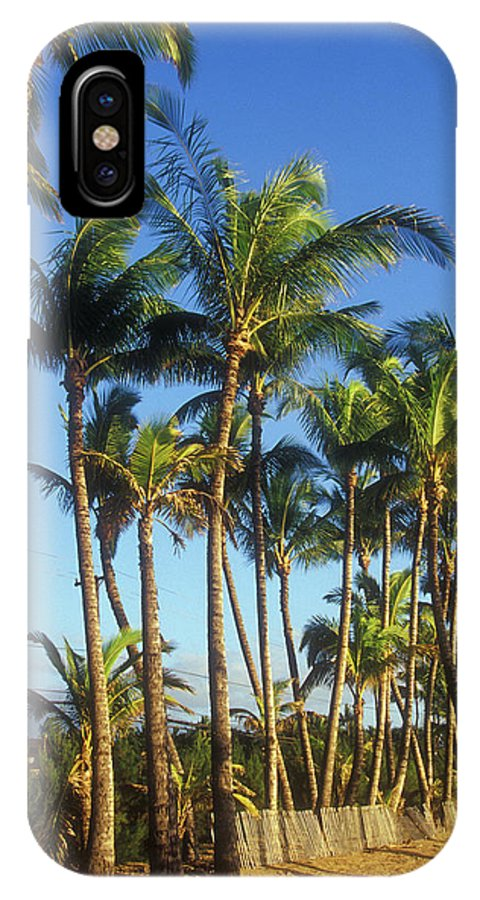 Hawaii IPhone X Case featuring the photograph Palms On Hawaii Beach Trail by John Burk