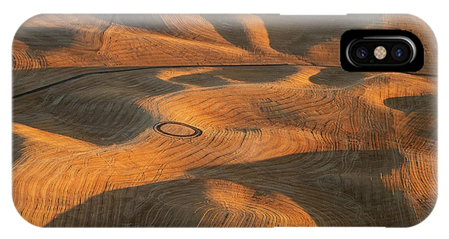 Usa IPhone X Case featuring the photograph Palouse Contours V by Doug Davidson