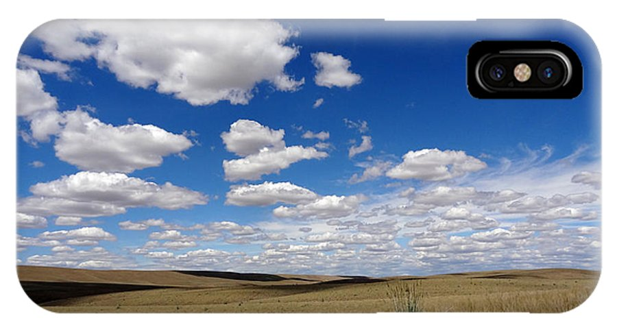 Palouse IPhone X Case featuring the photograph Palouse Skies by Anne Mott