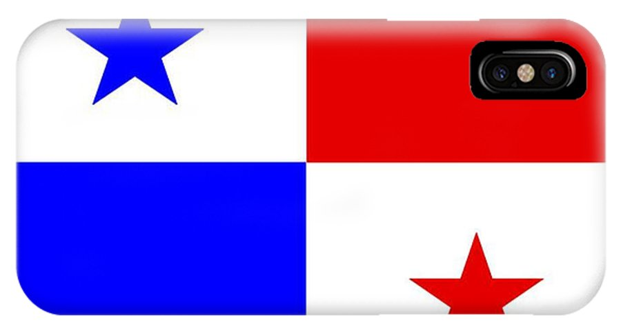 Panama IPhone X Case featuring the digital art Panama Flag by Frederick Holiday
