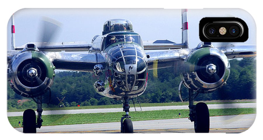 B-25 Warbird IPhone X Case featuring the photograph Panchito B 25 J Warbird by James C Thomas