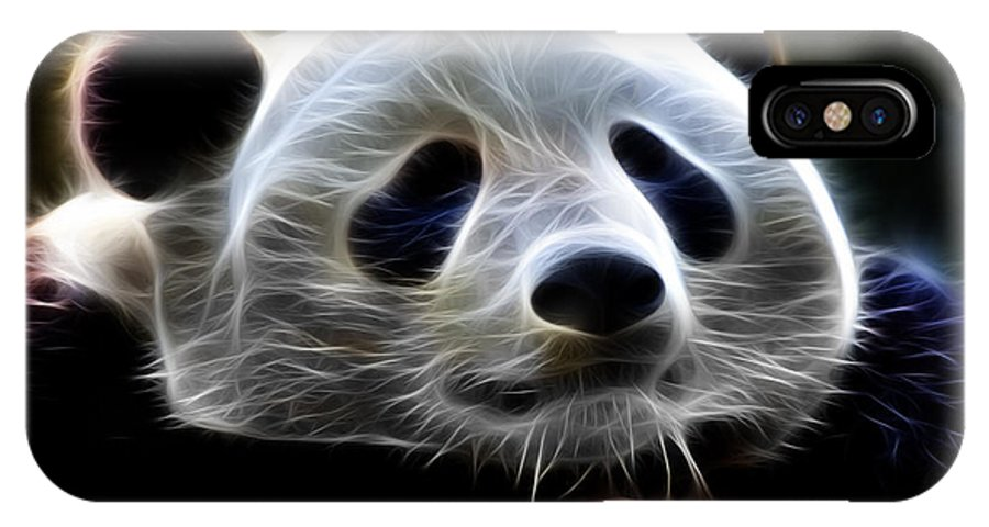 Panda IPhone X Case featuring the digital art Panda - 4934 - F by James Ahn