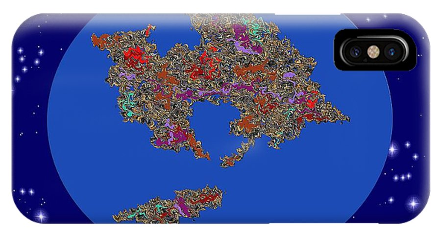 Continents In Collision IPhone X Case featuring the digital art Pangea Ultima by Dragica Micki Fortuna
